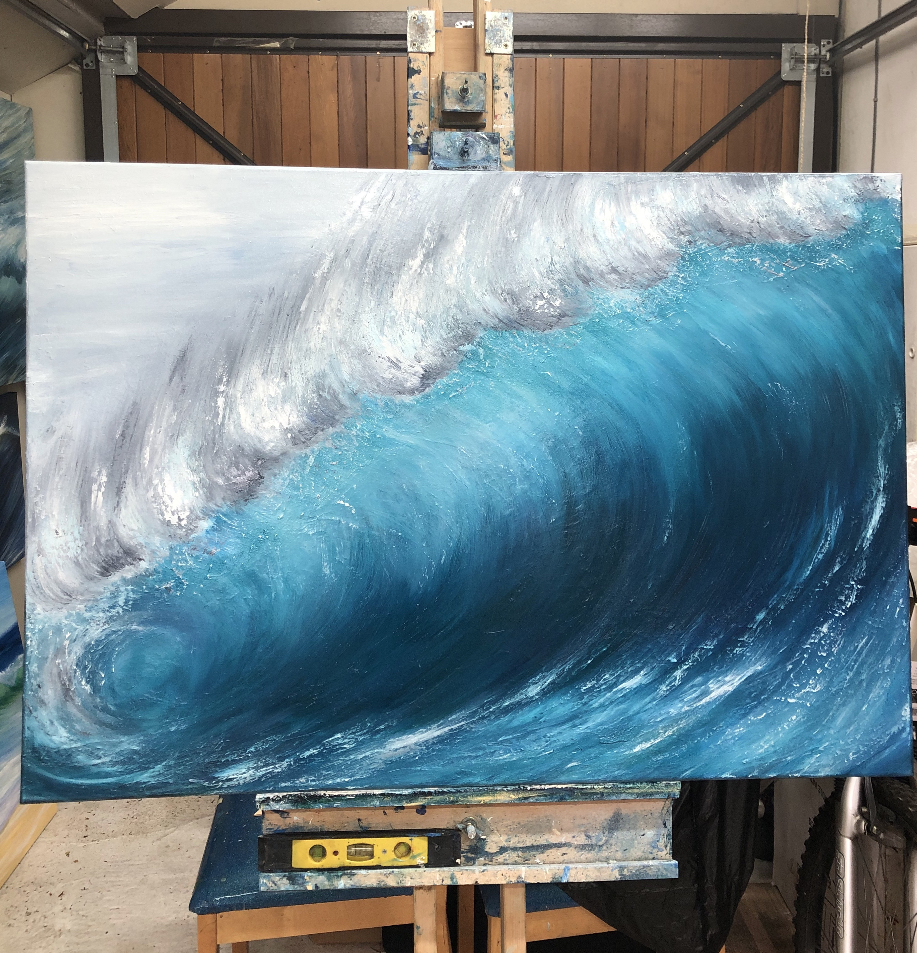 """wave breaking"" oil on canvas 100 x 70cm £395"