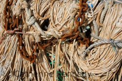 Photo of fishing ropes and chains
