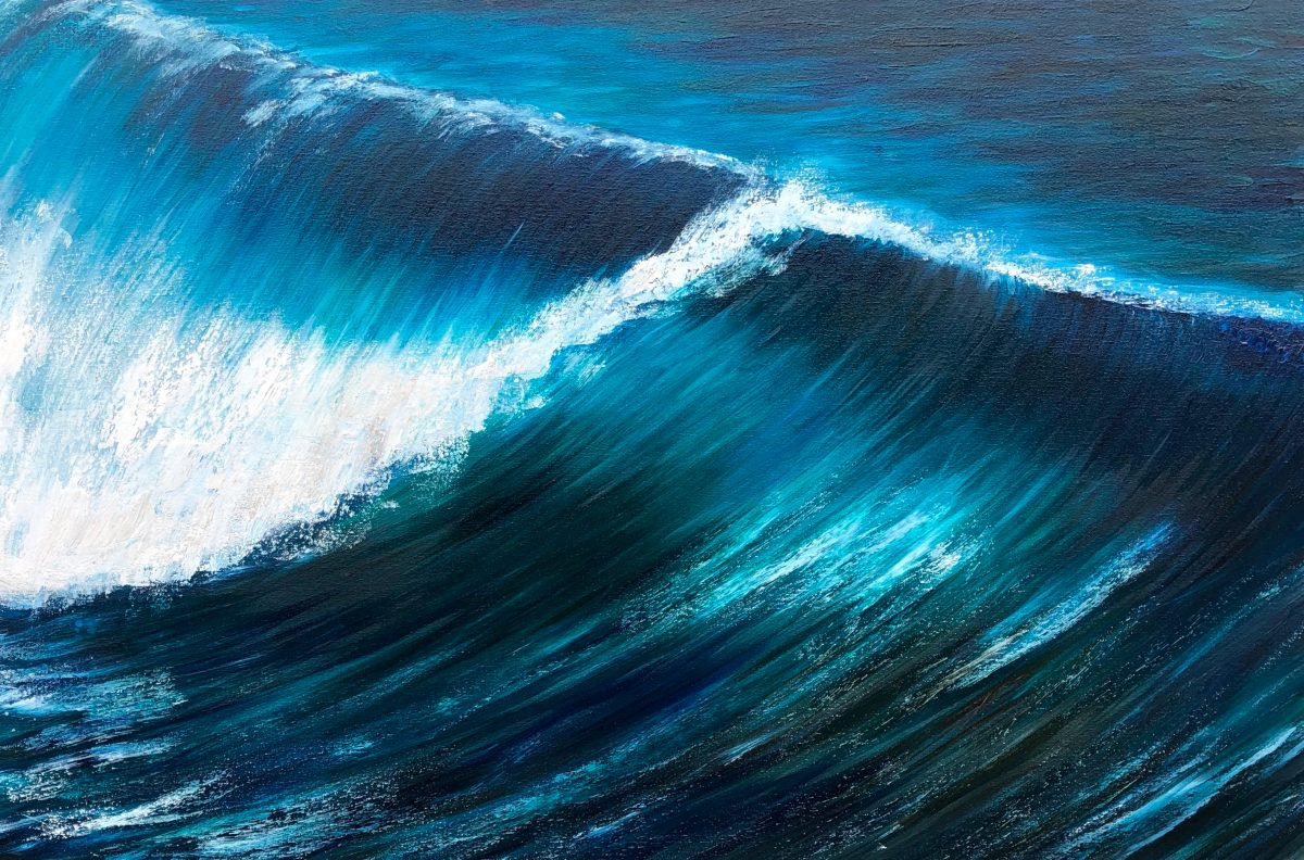 emerald wave painting