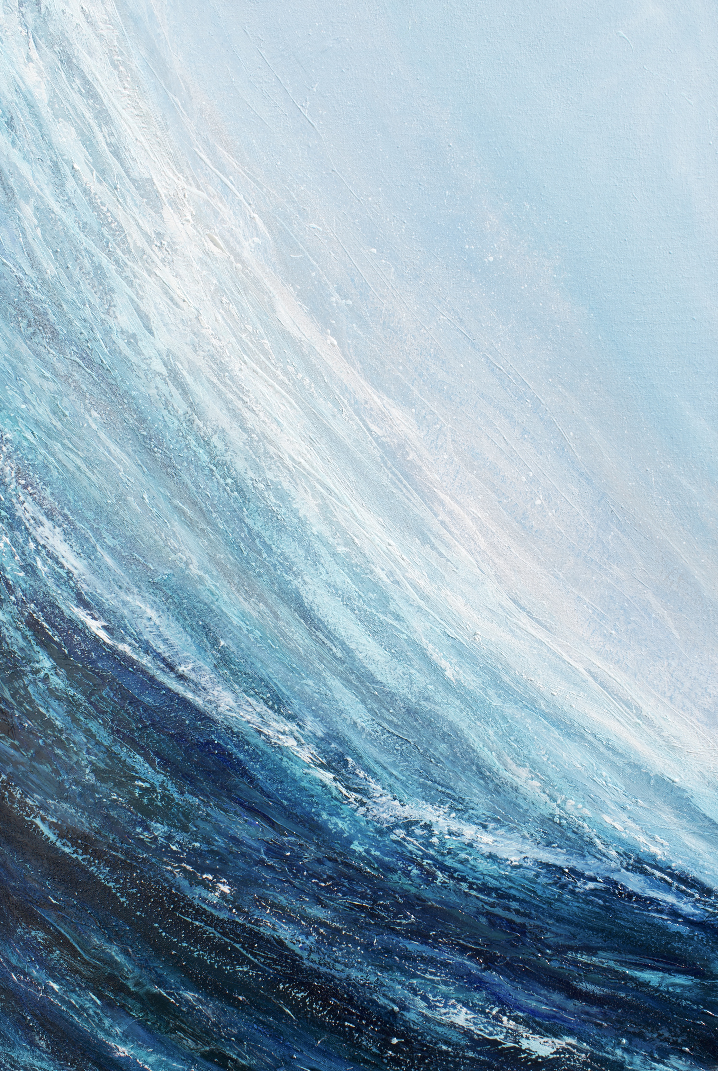 Surf the wave Original oil painting on canvas Measuring 23.5 x 35.5 inches or 60x 90 cm. Signed. Comes with a certificate of authenticity. Ready to hang. Free UK Shipping