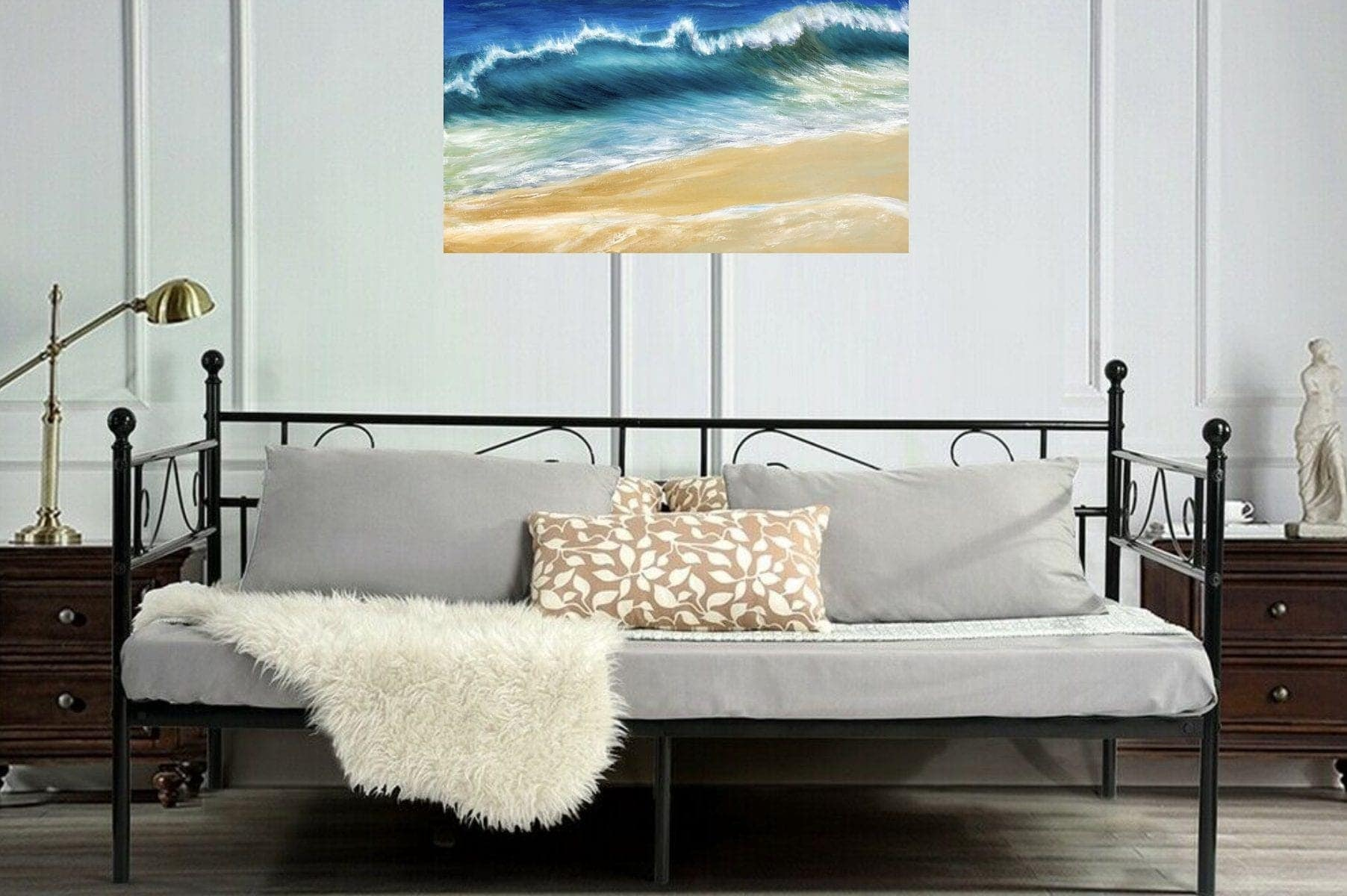 Ocean Wave giclee print in a room setting
