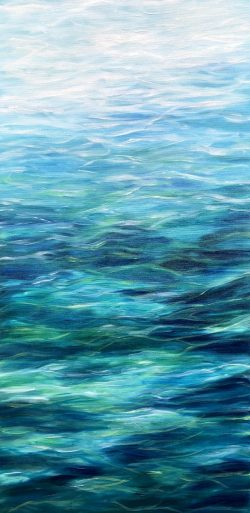 "Giclee print in 3 sizes of ""Turquoise Sea II"" from an original oil on canvas painting"