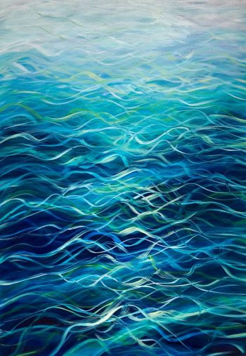 """""""Turquoise Sea III"""" by Devon based artist Catherine Kennedy Original Oil on canvas turquoise seascape painting 70 x 100cm £395"""