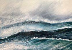 """Ice Storm"" giclee fine art print seascape in various sizes from £44 - £96 by Devon based artist Catherine Kennedy"