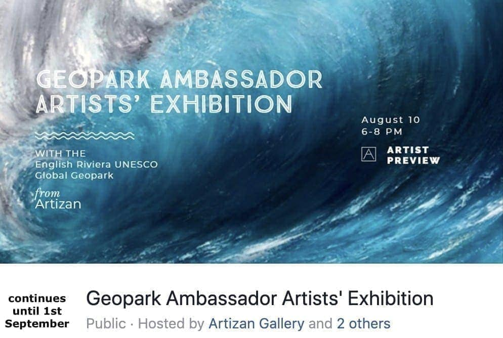Art Ambassador English Riviera Geopark Exhibition poster