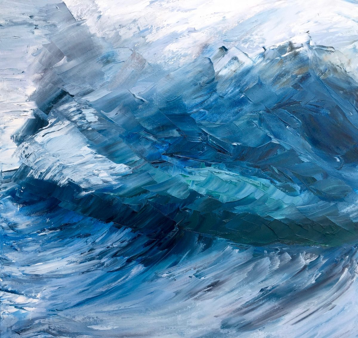 Abstract Blue Wave giclee print availble in 3 sizes