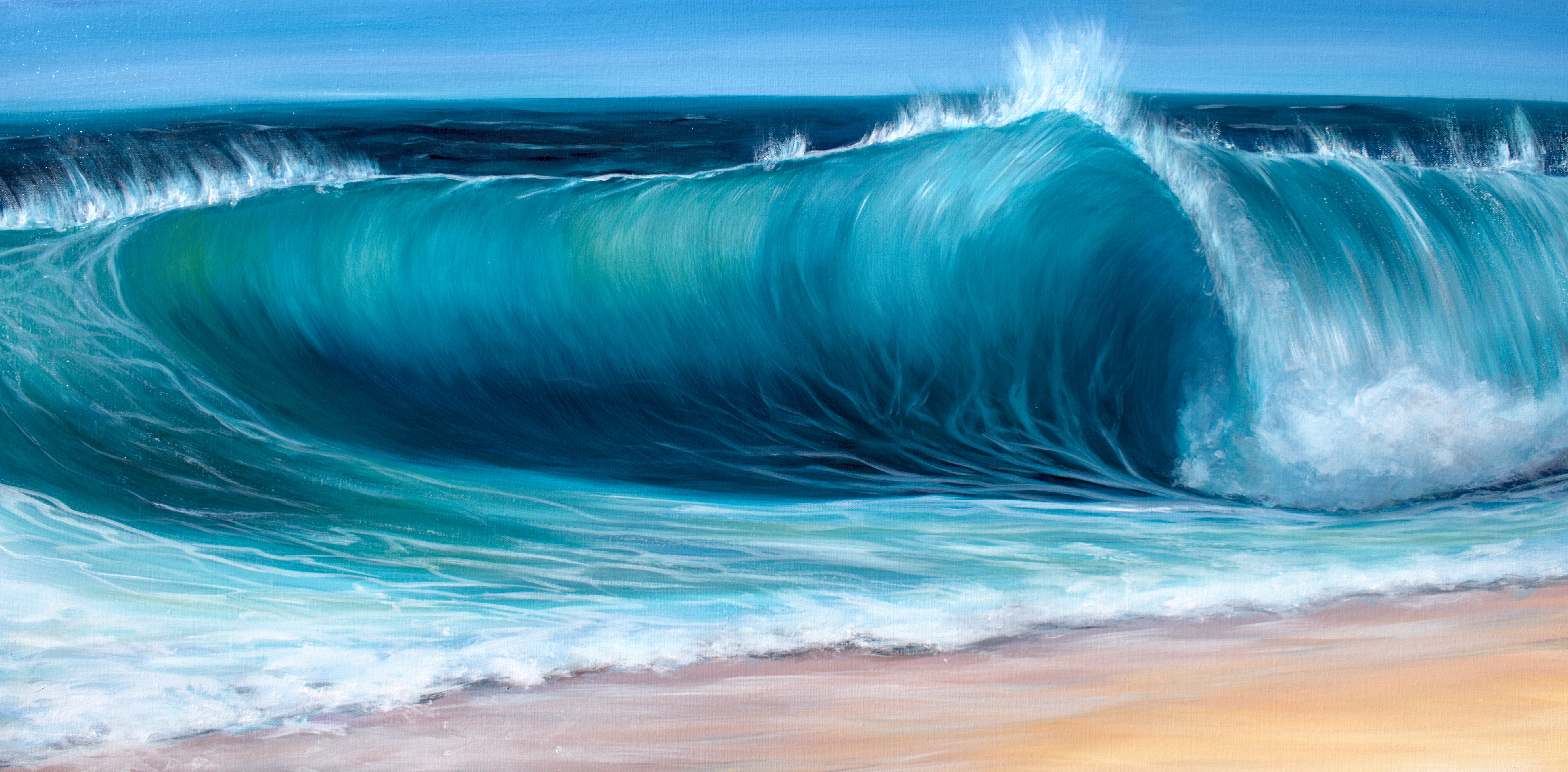 Ocean Beach Wave II fine art giclee print available in 3 sizes