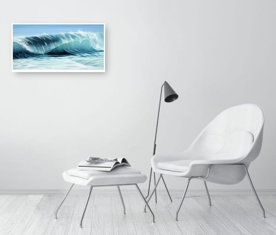 """""""SeaWave"""" Large Print in a Room Setting"""