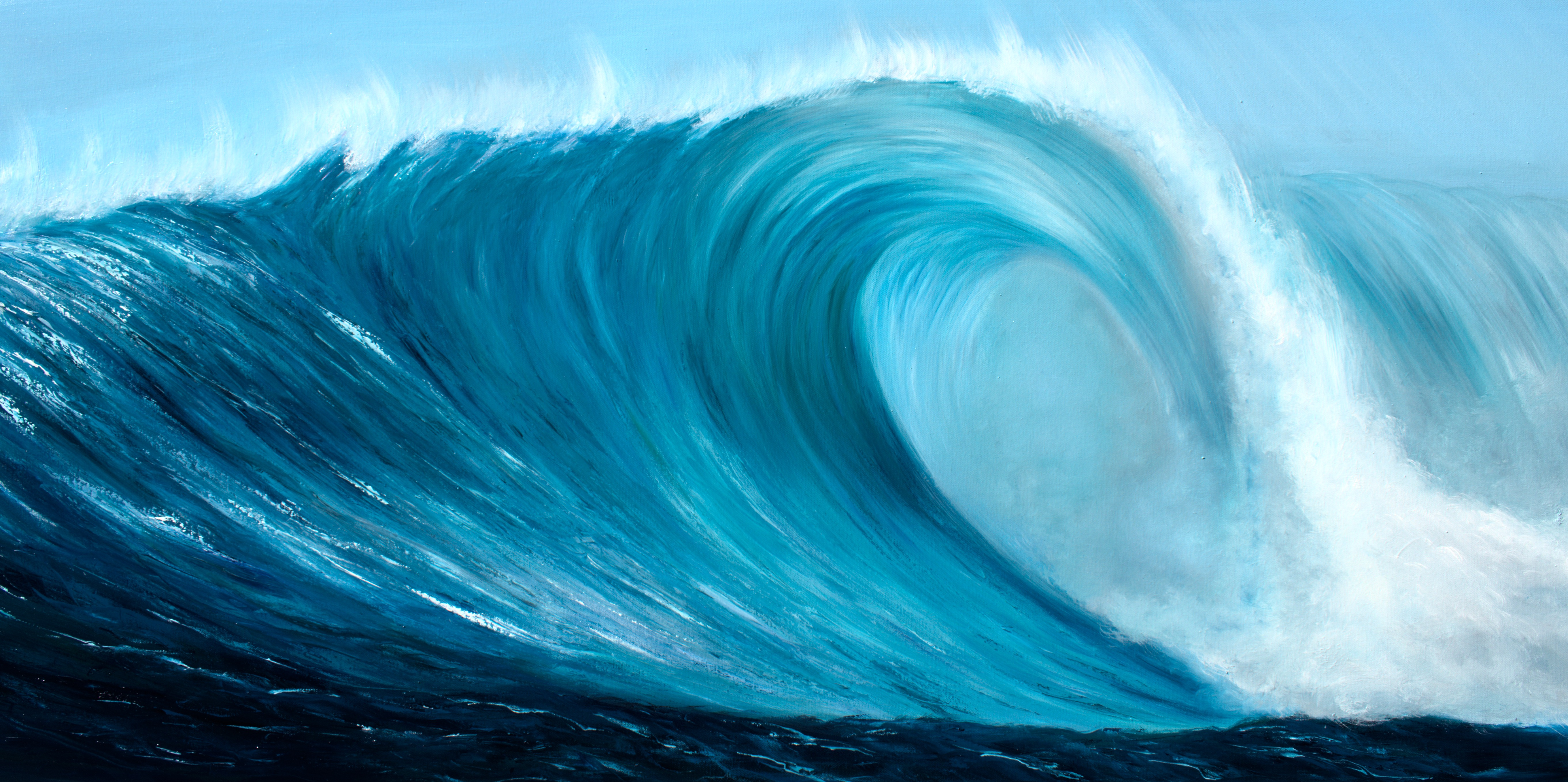 Turquoise Wave VI fine art giclee print